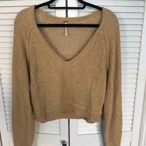Free People Beige Sweater